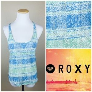 Roxy Mesh Ombre Knit Scoop Neck Tank Top